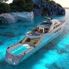 Yacht Design, Boat Design, Luxury Yacht Interior, Luxury Cars, Cruise Italy, Monaco Yacht Show, Private Yacht, Best Boats, Yacht Boat