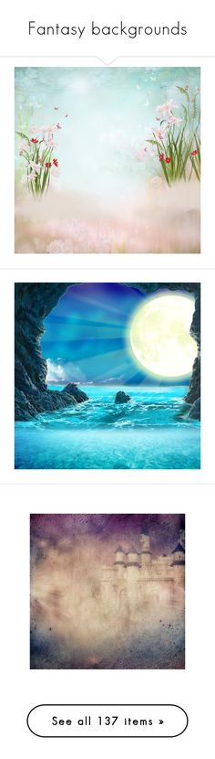 """""""Fantasy backgrounds"""" by sjk921 ❤ liked on Polyvore featuring backgrounds, water, blue, pictures, moon, scenery, ocean, sea, under the sea and filler"""