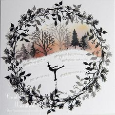 Marianne's Craftroom Diy Christmas Cards, Xmas Cards, Handmade Christmas, Holiday Cards, Cardio Cards, Card Io, Christmas Embroidery, Christmas Paintings, Winter Cards