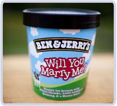 Nothing says I love you like Ben & Jerry's