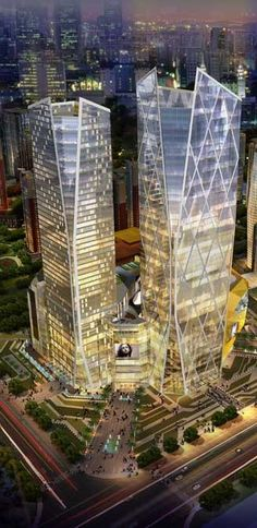 Twin Cities Kunming Buildings, Kunming, China designed by CADI (Central Architectural Designs International) #architecture ☮k☮