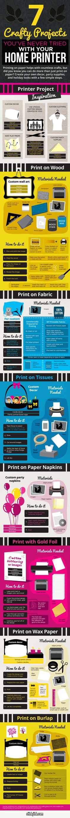Michi Photostory: 7 Crafty Projects You've Never Tried with your Home Printer