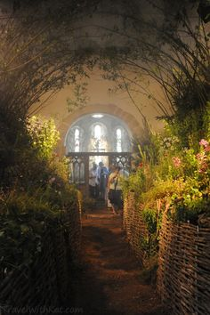 Inside old church