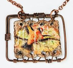 Mixed-Media Wire Jewelry Design: Bird on a Wire by Rochelle Nation - Jewelry Making Daily - Blogs - Jewelry Making Daily