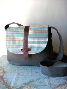 San Jose crossbody messenger bag by atlaspast on Etsy