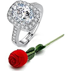 Buy Karatcart Valentine's Day Gift Hamper of Couple Ring with Red Rose Gift Box for Boyfriend/Girlfriend/Gift at Amazon.in Rose Gift, Gift Hampers, Rhinestone Wedding, Couple Rings, Boyfriend Girlfriend, Valentine Day Gifts, Red Roses, Girlfriends, Brother