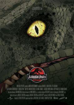 Jurassic Park poster by Dani Blázquez