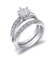 Coast Engagement Ring Set – Open Bridge