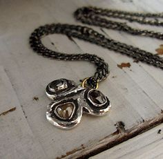 Rough Diamond Necklace Hot Rox by HotRoxCustomJewelry on Etsy