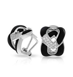 Belle Etoile Amazon Black huggie earrings