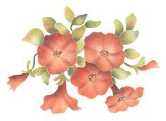 Petunias Wall Stencil by The Mad Stencilist