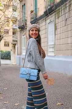 eb2650cdfa Striped pants and Pinko Love Bag to not go unnoticed! - Lea   Flò