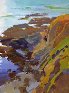 """Late Sun, Otter Point,"" by Marcia Burtt"