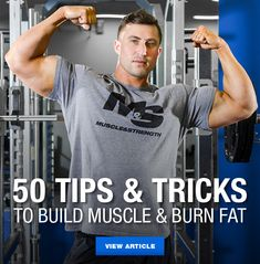 No fluff, no junk. In this article, you'll find 50 straight to the point tips and tricks to help you build lean muscle mass and burn body fat! Read more. 12 Week Workout, Workout Plan For Men, Weight Training Workouts, Fun Workouts, Workout Exercises, Workout Tips, Training Tips, Strength Training, Physical Fitness Program