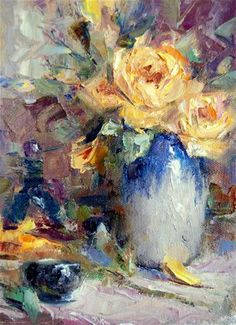 """""""Yellow Roses"""" by Julie Ford Oliver"""