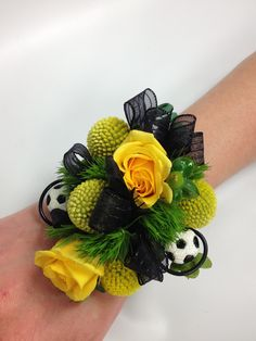 The perfect corsage for the girl who's into soccer!