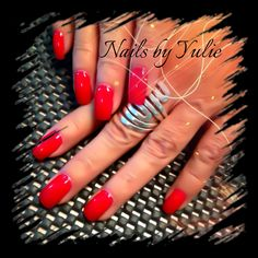 """Sexy hot red gel! """"It's going to be a wild weekend"""" she said!"""