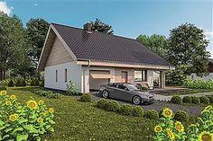 Projekt domu Murator C333j Miarodajny - wariant X 86,6 m2 - koszt budowy 174 tys. zł - EXTRADOM Exterior Design, Shed, Outdoor Structures, Cabin, House Styles, Outdoor Decor, Home Decor, Houses, Projects