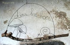 I love wire art - this is a cute idea