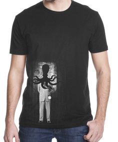 Men's Octopi Wake up T shirt by ClosetOfMysteries on Etsy, $18.00