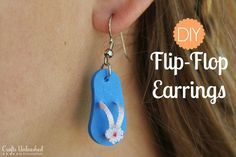 Easy DIY Flip-Flop Earrings- under two bucks and easy enough for kids to make.