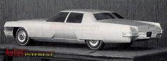 OG   1971 Cadillac DeVille Four-door Sedan   Design proposal in full-size mock-up