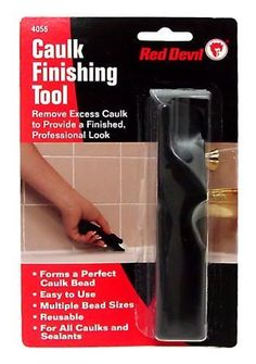 "5 , Caulk, or, Sealant, Finishing, Tools, RED Devil, Removes Excess Caulking, to Provide a Finished, Professional Look, About 5"" Long, Made in the USA, by ASTRODEALS, http://www.amazon.com/dp/B0077EBI2G/ref=cm_sw_r_pi_dp_SWZMpb1BKPYQ6"