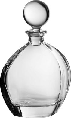 Orbit Whiskey Decanter Lead free crystal; Made in Europe.