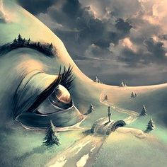 After the rain by Cyril Rolando on behance #grass #eyes #rain #clouds #girl #bridge  #draw #drawing #painting #color #paint #drawings #sketch #drawn #disegno #beautiful #desenho #sketchbook #like #artlovers #illusration  #sketch_daily #igers #illustrator #artwork #creative #instaart #artist #art #artstagram by adults_illustrations