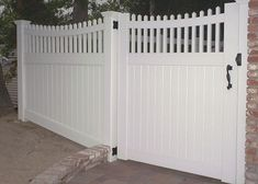 white swing security driveway gates | Aladdin | Garage Doors | Gates | Fence | Railing | 818-399-4676