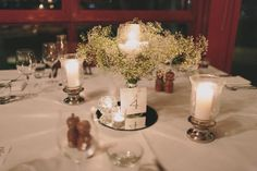 A touch of baby's breath will give your reception a whimsical feel.