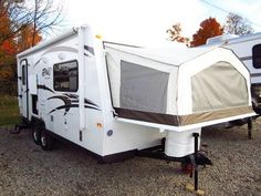 HaylettRV.com - 2015 Roo 21DK USED Hybrid Ultralite Travel Trailer by Rockwood RV in Coldwater MI - YouTube Hybrid Travel Trailers, Used Travel Trailers, Hybrid Camper, Camping Glamping, Campers, Recreational Vehicles, Youtube, Ideas, Travel Trailers
