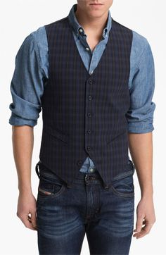 for Formal Occasions 2010 Men/'s Horizontal Striped Sage Green Polyester Tuxedo Vest with Self Tie Necktie and Handkerchief