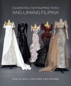 the five most important work yet. Ang Limang Filipina was exhibited during the the first ever made possible Filipina, Prom Dresses, Formal Dresses, Couture, Celebrities, Instagram, Bjd Dolls, Resin, Barbie