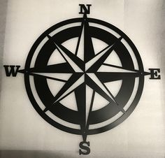 Nautical Compass Metal Sign / Compass Rose / Nautical Decor / Directional Decor / Home Decor / Meta Metal Wall Decor, Metal Wall Art, Wall Art Decor, Hamptons Decor, Decor Pad, Nautical Compass, Graffiti, Compass Rose, Stained Glass Patterns