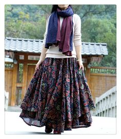 Pair it right Modest Outfits, Skirt Outfits, Modest Fashion, Skirt Fashion, Dress Skirt, Casual Dresses, Fashion Dresses, Indian Fashion, Boho Fashion