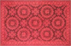 Bright and cheery red overdyed carpet. Perfect for a formal living room or formal dining room
