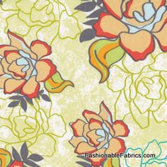 Modern Affair Mint Rose Garden by Art Gallery Fabrics