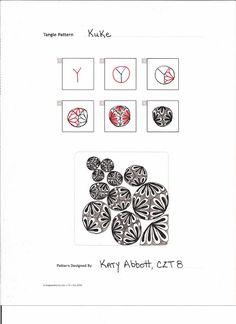 Tangle On...Bead On.....: My First Original Pattern! Kuke Katy Abbott, CZT