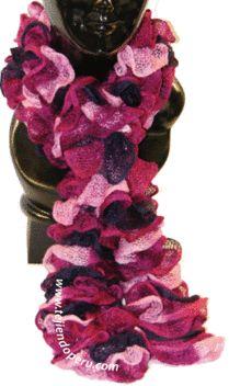 Tutorial: bufanda tejida con cinta de malla en dos agujas o palitos!