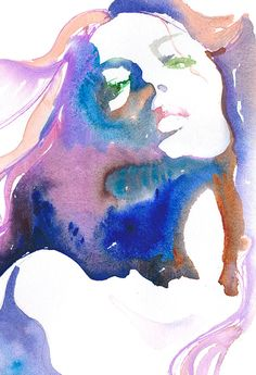 Fashion Print Giclee Print of original watercolour painting