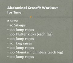 Abdominal Crossfit Workout for time