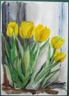 Aquarell Schneeglöckchen - Google-Suche Flora, Art Work, Pretty, Nature, Plants, How To Make, Painting, Google, Green