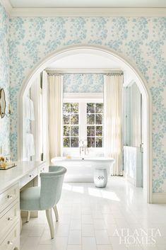 House Tour: Serene Coastal Style (Atlanta Homes) Atlanta Homes, House Design, House, Home, White Bathroom, Classic Baths, Interior Design, Bathroom Design, Beautiful Bathrooms