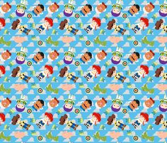 Little Toys fabric by muneca on Spoonflower - custom fabric
