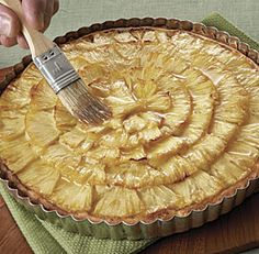 This sunny-looking stunner uses buttery, slightly sweet macadamia nuts for both the filling and the crust. If you like, serve it with a dollop of rum-spiked whipped cream and toasted coconut flakes. Nut Tart Recipe, Tart Recipes, Sweet Recipes, Sweet Pie, Sweet Tarts, Pie Dessert, Dessert Recipes, Just Desserts, Fine Dining