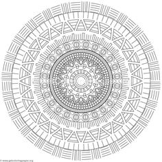 Tribal Mandala Coloring Pages
