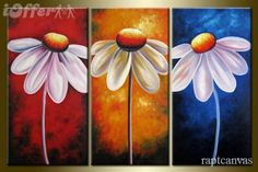 Pix For > Easy Flower Canvas Painting