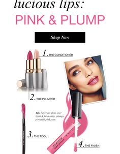 The power of the 4 Ps: Plumpy Powerful Pink Pout  #TipTuesday Layer lip gloss over lipstick for a shiny Plumpy Powerful Pink Pout   www.youravon.com/lindayashford