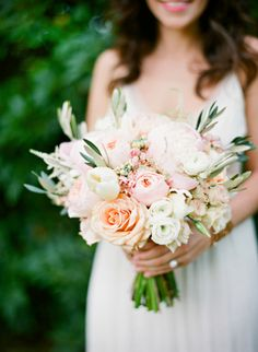 beautiful blush and peach bouquet that just oozes with soft romance. view more of the gorgeous work form A Charming Occasion here. http://www.weddingchicks.com/vendor-guide/a-charming-occasion-2/